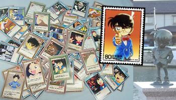 Detektiv Conan-Card Game / Briefmarke / Statue