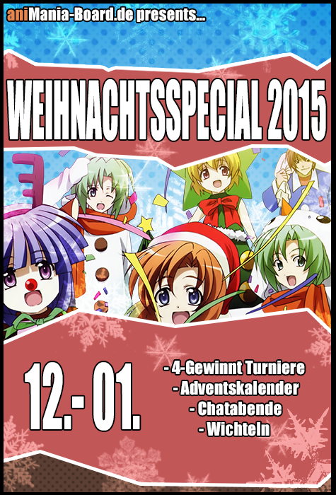 Weihnachtsspecial Flyer Animanima board