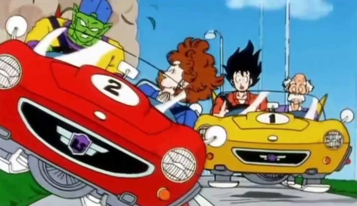 Dragon Ball Z: Goku und Piccolo beim Autofahren