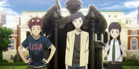 Die drei Charaktere aus dem Trailer schauen in die Kamera