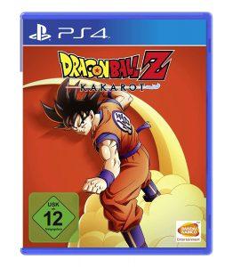 Das Cover vom Spiel: Dragon Ball Z: Kakarot, auf dem Son-Goku auf seiner Überschallwolke reitet