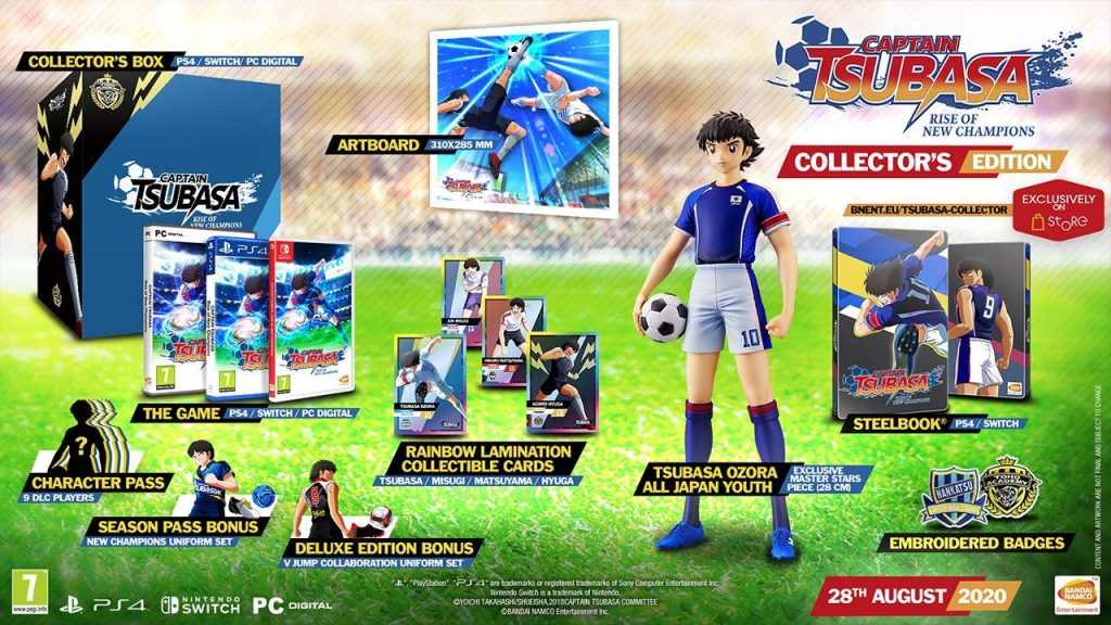 Die Inhalte der Collectors-Edition von Captain Tsubasa Rise of New Champions