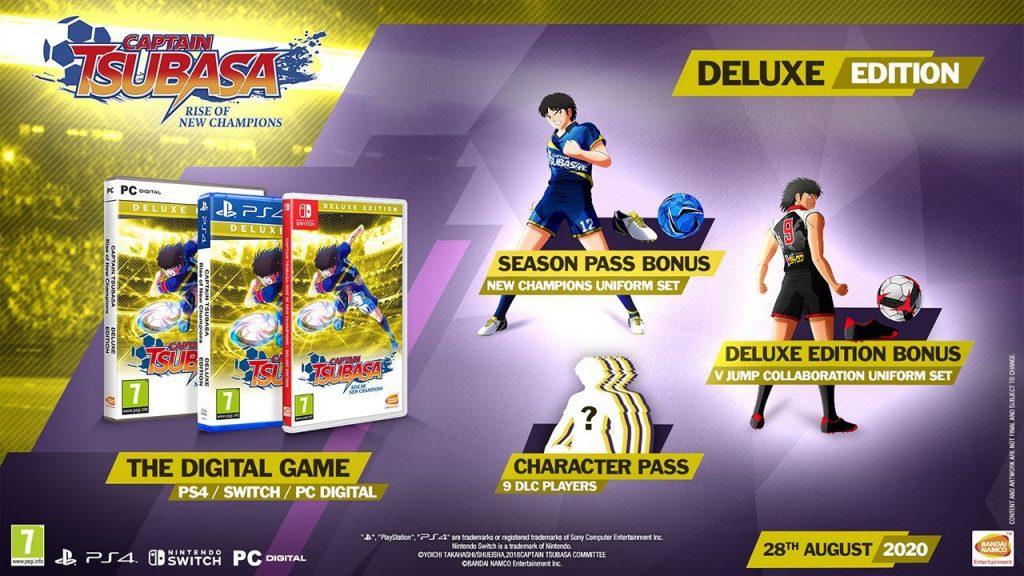 Die Inhalte der Deluxe-Edition von Captain Tsubasa Rise of New Champions