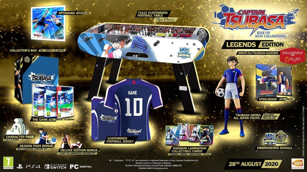 Die Inhalte der Legends-Edition von Captain Tsubasa Rise of New Champions