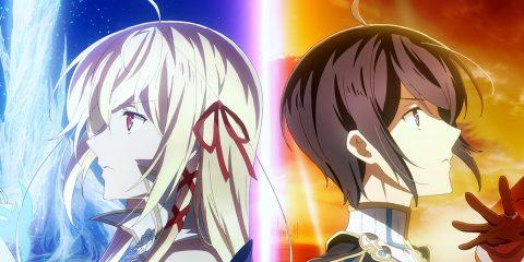 """Die Hauptcharaktere der Anime-Serie """"Last Crusade"""" stehen rücken an rücken"""
